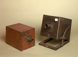 Two cameras owned by W H F Talbot, c 1840.