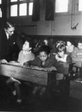 Immigrant children at a Welsh primary school, 19 February 1943.