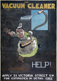 'Help!', poster promoting the British Vacuum Cleaning Company Ltd, 1906.