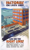 'Factories on LNER Lines', LNER poster, c 1930.