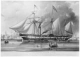 'The President Steam Ship', engraving, 1839