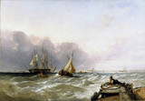 'Shipping off the Dutch Coast',  c 1830.