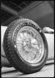 Front wheel of a 1911 Auto-Union racing car, c 1934-1935.