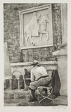 Artist at his easel, Dubrovnick, 1936.;