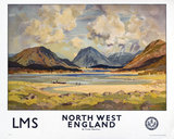 'North West England', LMS poster, 1923-1947.