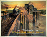 'The Royal Albert Bridge, Saltash', BR (WR) poster, 1958.