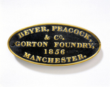 Beyer, Peacock and Co brass name plate, 185