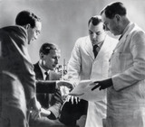 The Superpenicillin team at work, 25 August 1960.
