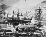 Harbour of Balaclava, the Cattle Pier, c 1855.