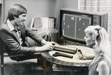 Steve Heighway playing 'Pong', 26 September 1977.