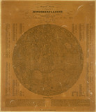 Small map of the Moon, Berlin, Germany, 1837.