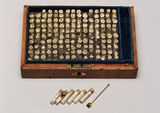 Homeopathic medicine chest, 1830-1850.