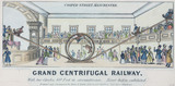 'Grand Centrifugal Railway, Cooper Street Manchester' , c 1850s.