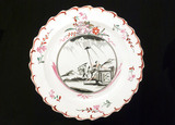 Creamware plate, English, 18th to 19th century.