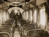 Interior of a passenger aeroplane fitted with Napier engines, c 1920s.