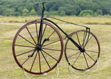 English-built boneshaker bicycle, c 1869.