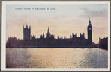 'London: Houses Of Parliament By Night', c 1914.