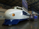 Japanese 'Bullet' train on display at the National Railway Museum, York, 2003.