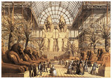 Egyptian Court, North Transept of the Crystal Palace, Sydenham, 1854.