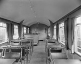 LNER 'Gresley' buffet car 43511 interior, c 1930s.
