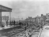 Broad gauge lines being taken up at Plymouth, late 19th century.