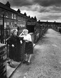 Women during the miners' strike, Fitzwilliam, Yorkshire, June 1984.