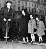 Enoch Powell on a pogo stick, 23 January 1962.