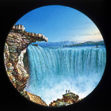 Niagara Falls, Canada, hand-coloured magic lantern slide, 19th century.