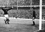 Janos Farkas scores for Hungary, World Cup, Anfield, 15 July 1966.
