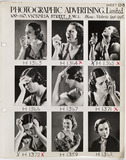 """Photographic Advertising Limited contact sheet, c 1950."""