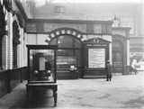 """Departure board, Manchester Victoria Station, c 1926."""