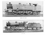"""Two Southern Railway Locomotives, c 1925."""