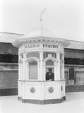 """Enquiry office at Blackpool, 1927."""