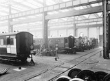 """Carriage repairs, Newton Heath Works, Greater Manchester, 5 March 1927."""