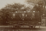 """Stockton & Darlington Railway carriage, 1875."""
