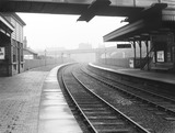 """Platform at Droylsden Station, Greater Manchester, 4 November 1929. """