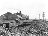 """Coal wagons at Formby power station, Merseyside, c 1928."""