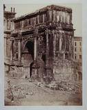 """'The Arch of Alexander Severus in Rome', c 1860."""