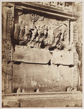 """Detail from the Arch of Titus in Rome, c 1860."""