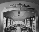 Interior of Coronation train. Doncaster, England, 1945.