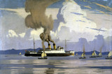 Yachting scene and Ts 'Duke of Lancaster', 1928-1948.
