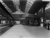 Platform Number 5 of Preston railway station. England, 1917.