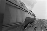 BR locomotive No.60036,  from footplate ECML race track Banjo Dome. England, c.1952. East Coast Main Line. Colombo, England, 1935-78.