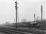 Theatrical train at Spondon Junction, 9th April 1910.