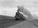 London Midland Scotland (LMS) locomotive 6230 Duchess of Buccleuch on Shap summit, 1939. MH_ET_LS_69.