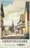 Poster, British Railways (Western Region) Herefordshire Travel by Rail