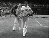 Fred Perry and Von Cramm at Wimbledon.