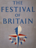 Guidebook front cover for the Festival of Britain with logo designed by Abram Games, 1951