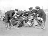 Fire Brigade despatch riders train at Wimbledon Stadium - 10-December-1940