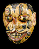 Painted wooden face mask, late 18th-19th century.